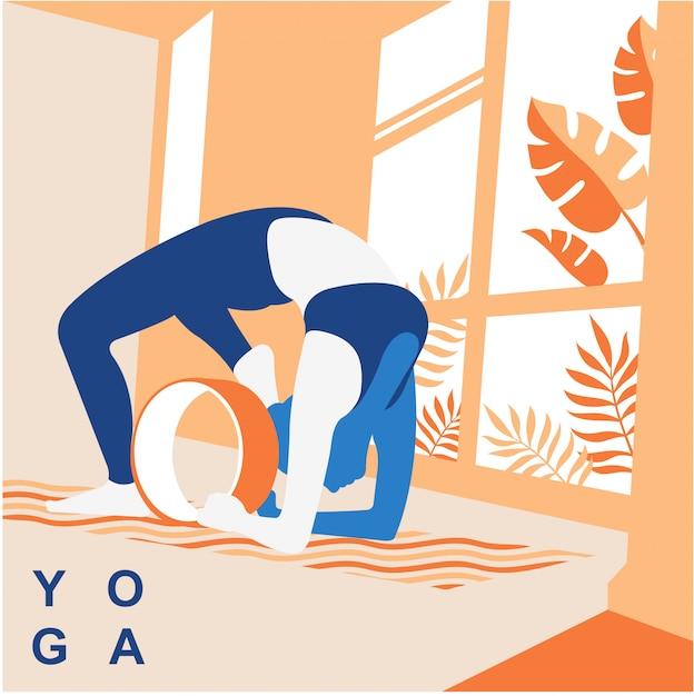 Yoga-vektor-illustration hintergrund Premium Vektoren
