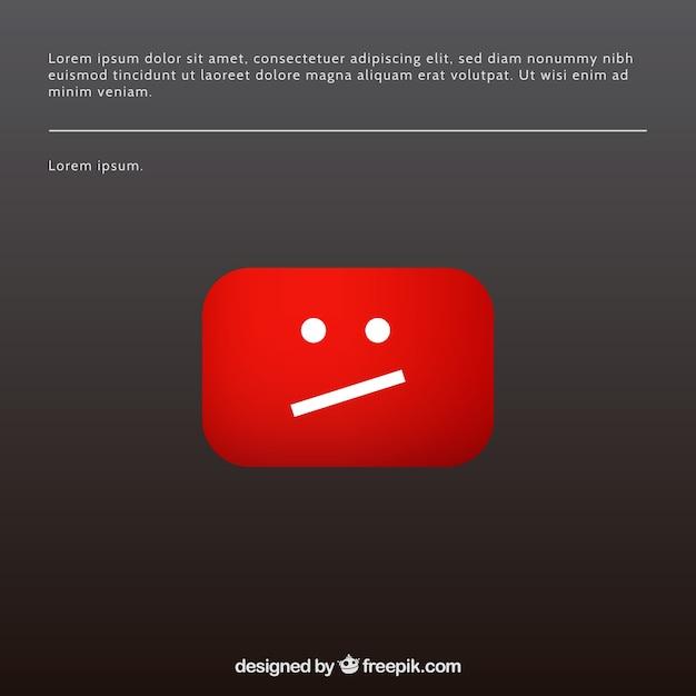 Youtube-fehlermeldung mit flachem design Kostenlosen Vektoren