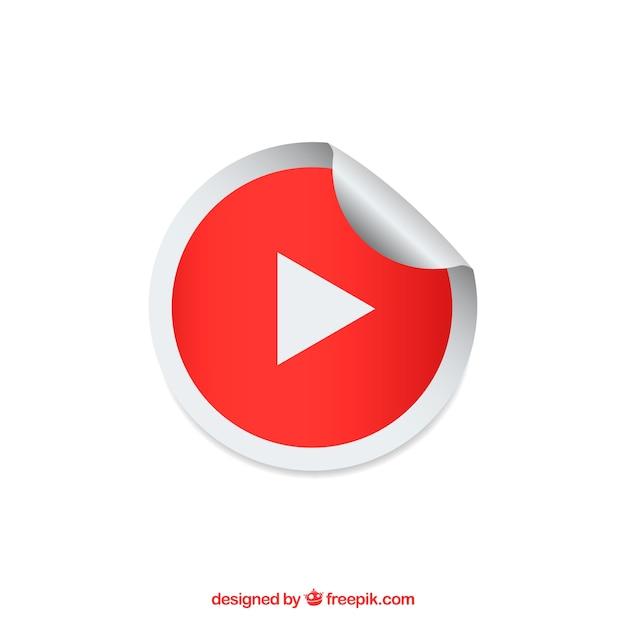 Youtube-spielerikone mit flachem design Kostenlosen Vektoren