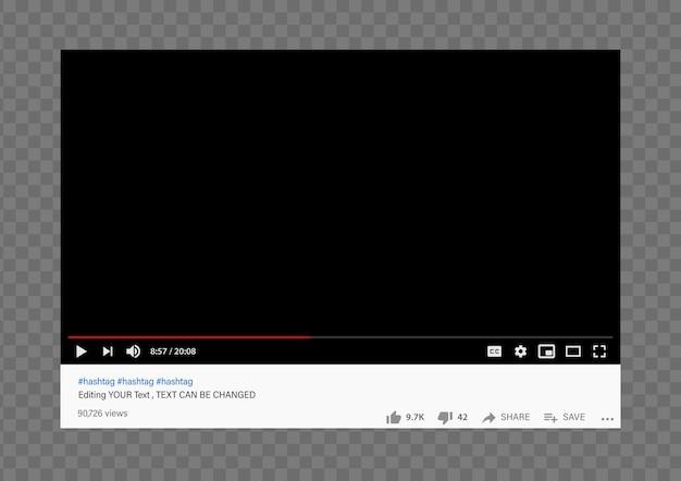 Youtube web video player modell Premium Vektoren