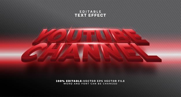 Youtuber-kanalname bearbeitbarer texteffekt Kostenlosen Vektoren