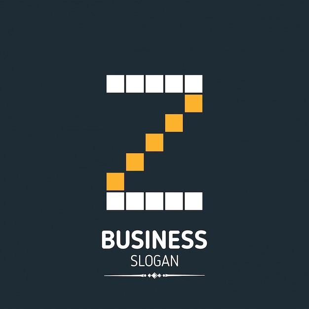 Z brief logo business template pixelated vector icon Kostenlosen Vektoren