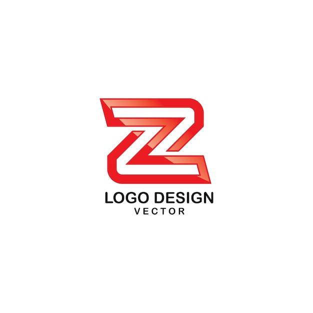 Z brief typografie logo design Premium Vektoren