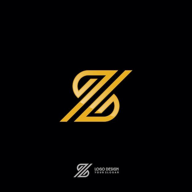 Z-symbol in der goldmonogramm-art Premium Vektoren