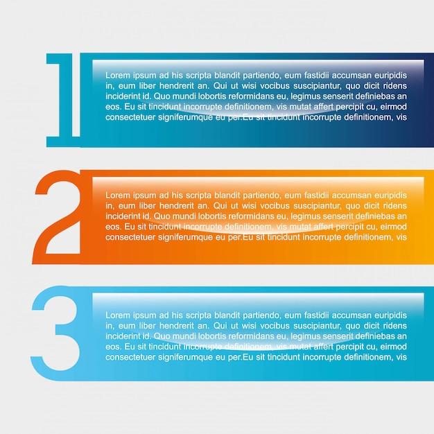 Zahlentwurf über weißer hintergrundvektorillustration Premium Vektoren