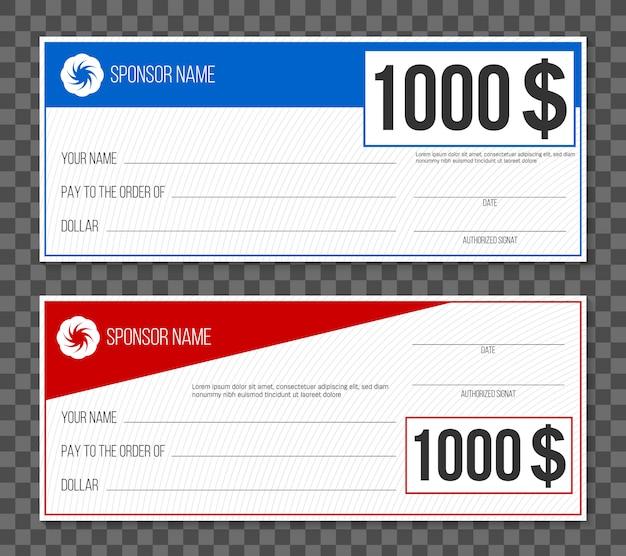 Zahlungsereignis gewinnscheck Premium Vektoren
