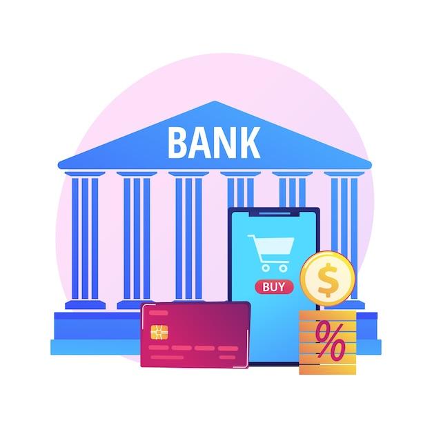 Zahlungskarte. elektronischer geldtransfer. bunte zeichentrickfiguren, die plastikkreditkarte halten. bankgeschäfte, kredite, einlagen. kontaktloses zahlungssystem Kostenlosen Vektoren