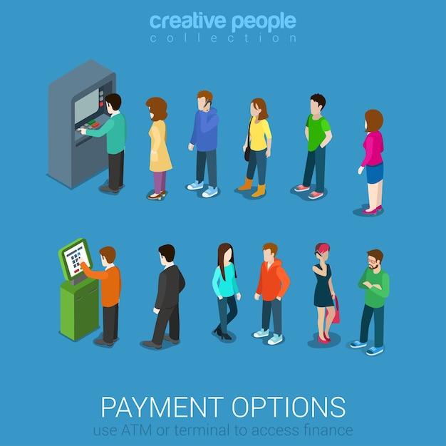 Zahlungsmöglichkeiten bankfinanzierung geld Premium Vektoren