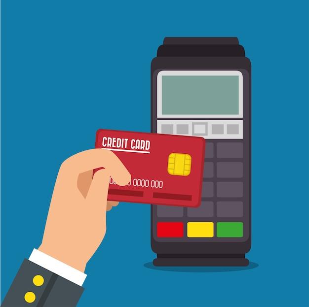 Zahlungsterminal design Premium Vektoren