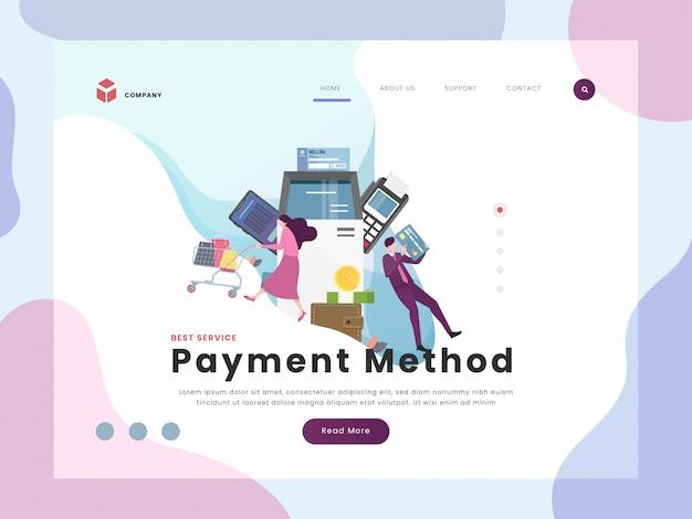 Zahlungszielseite Premium Vektoren