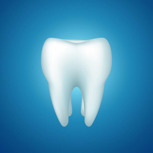 Zahn auf blau Premium Vektoren