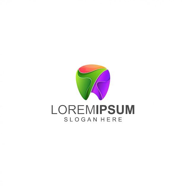 Zahn buntes logo Premium Vektoren