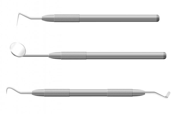 Zahnärztliche instrumente vektor-illustration Premium Vektoren