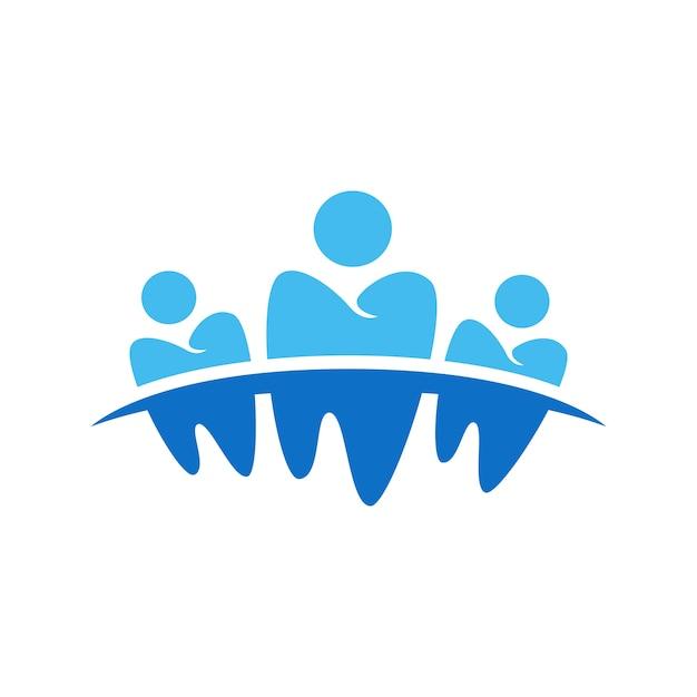 Zahnärztliches geschäftssymbol design Premium Vektoren