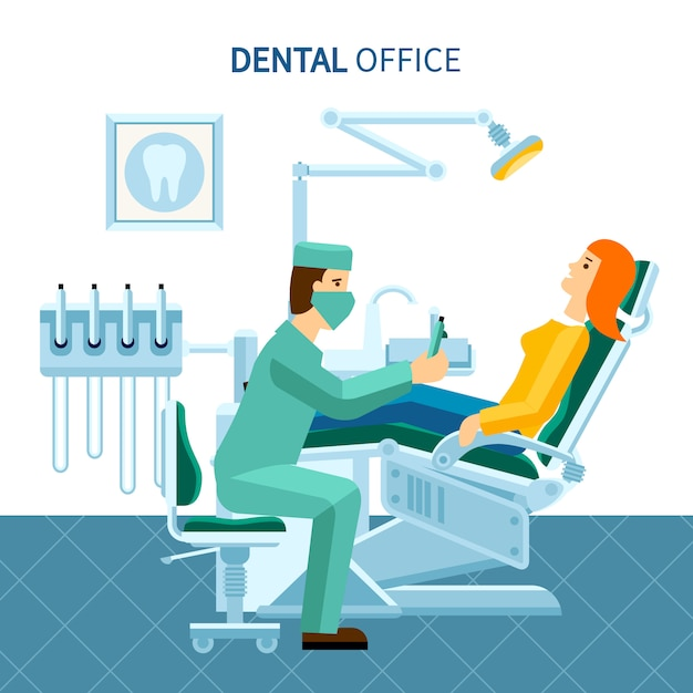 Zahnarztpraxis poster Kostenlosen Vektoren