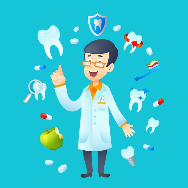 Zahnheilkunde-konzept-illustration Kostenlosen Vektoren