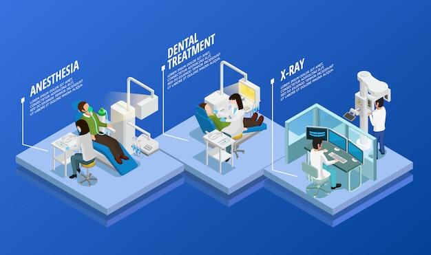 Zahnmedizinische isometrische vorlage Kostenlosen Vektoren