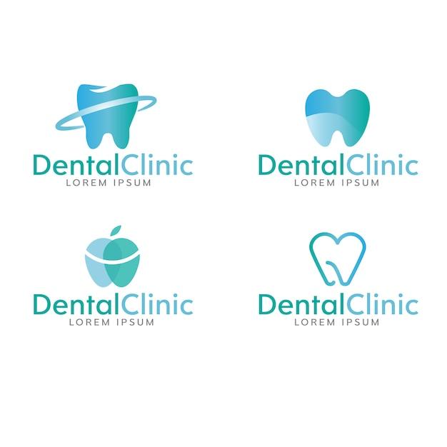 Zahnmedizinische logo-sammlung Kostenlosen Vektoren