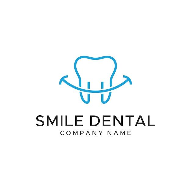 Zahnmedizinische logo-vorlage Premium Vektoren
