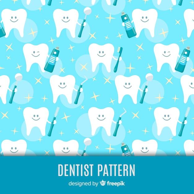 Zahnmedizinisches muster Premium Vektoren