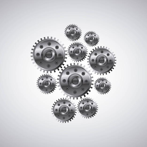 Zahnrad-einstellungen symbol Premium Vektoren