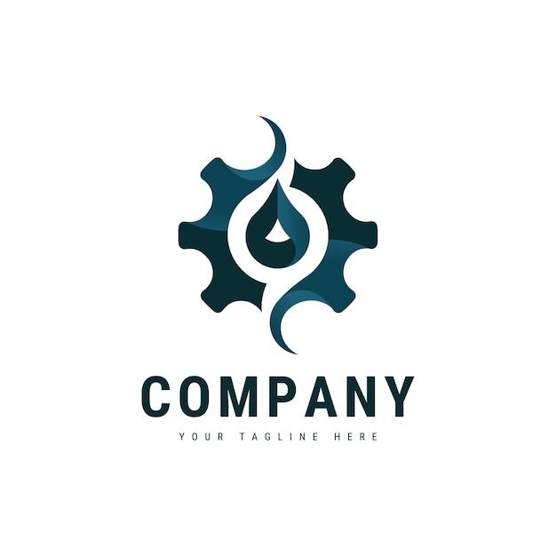 Zahnrad-Flüssigkeits-Logo   Download der Premium Vektor