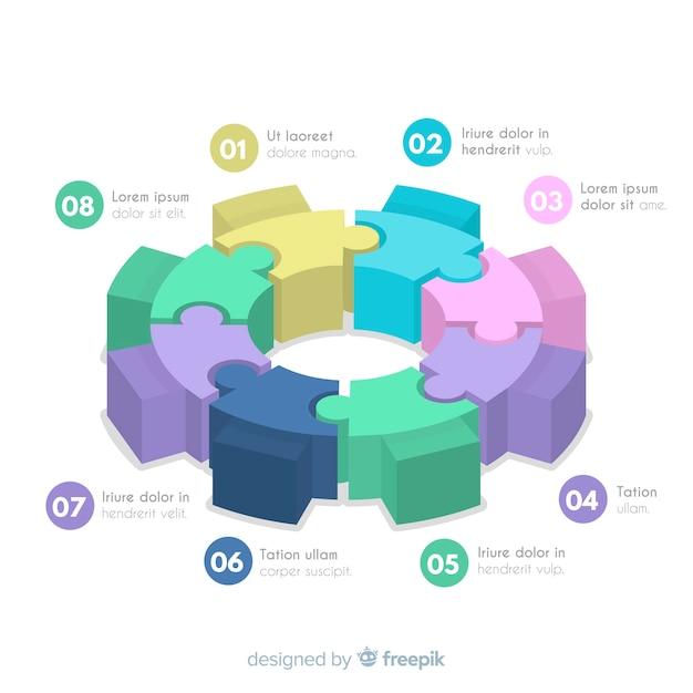 Zahnrad infographik design Kostenlosen Vektoren