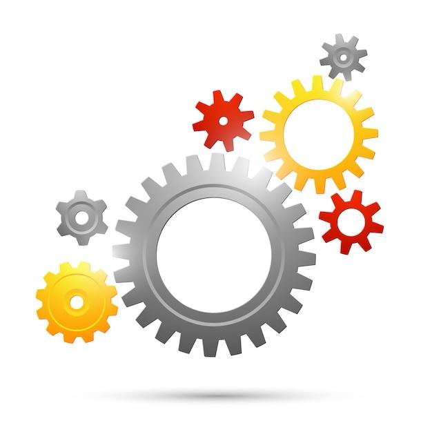 Zahnrad-teamwork-verbindung Kostenlosen Vektoren