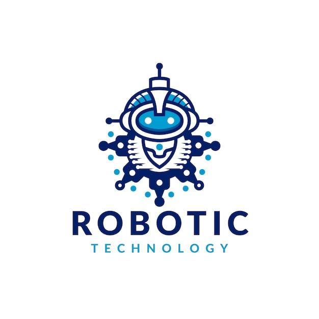 Zahnradroboter-logo Premium Vektoren