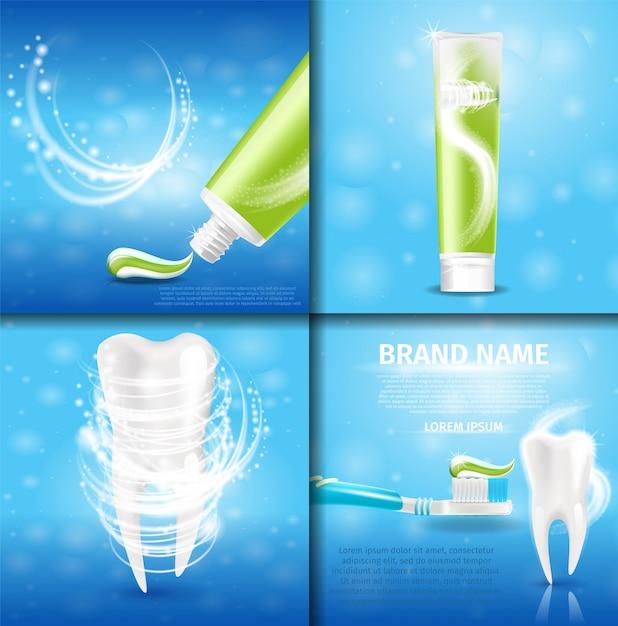 Zahnweißpasta-gesundes zahn-extrakonzept Premium Vektoren