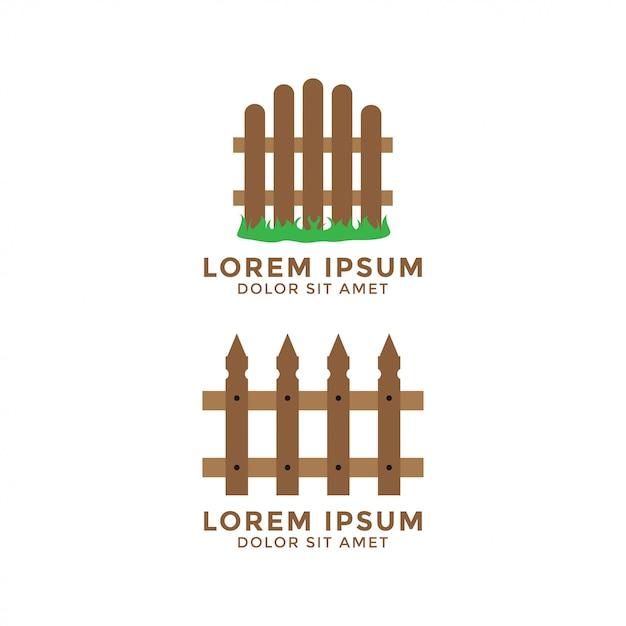 Zaun grafikdesign logo vorlage vektorelement Premium Vektoren