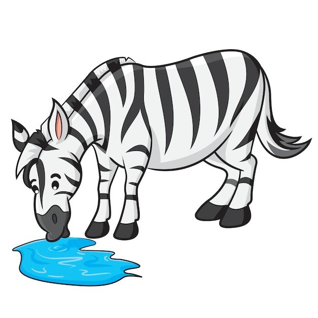 Zebra-cartoon Premium Vektoren