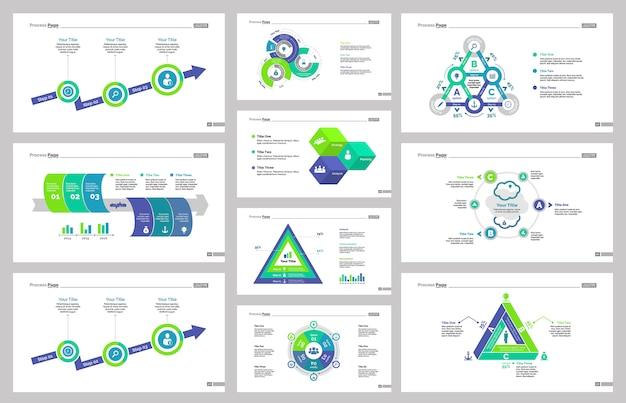 Zehn business slide vorlagen set Kostenlosen Vektoren