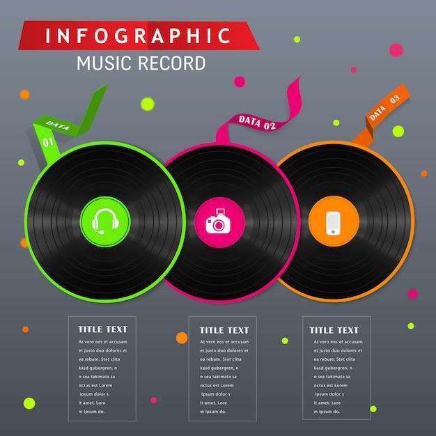 Zeichnen sie das 80er jahre infografik-konzept auf. Premium Vektoren