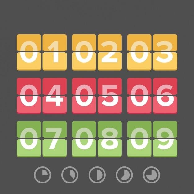 Zeit-countdown-vorlage Kostenlosen Vektoren