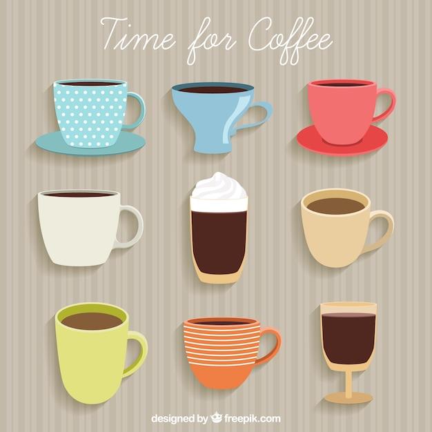 Zeit für kaffee Kostenlosen Vektoren