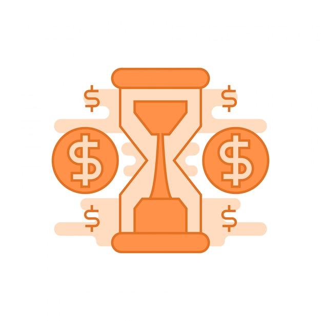 Zeit ist geld konzept Premium Vektoren