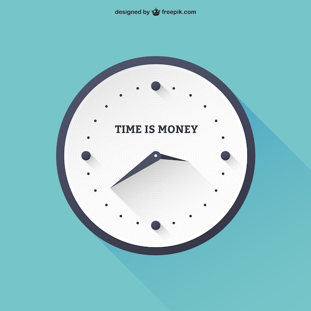 Zeit ist geld Kostenlosen Vektoren