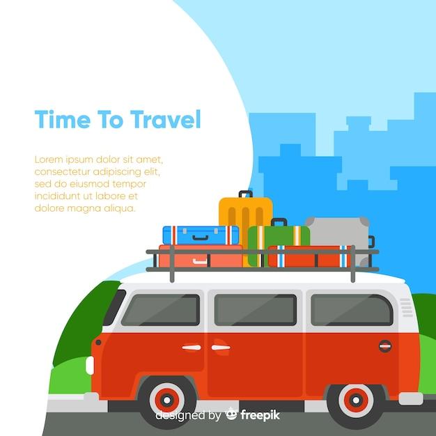 Zeit zum reisen im hintergrund Kostenlosen Vektoren