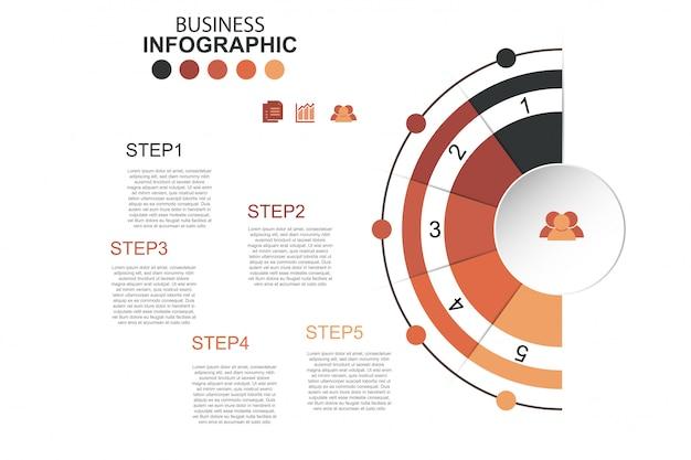 Zeitachse infographics design vektor und marketing icons Premium Vektoren