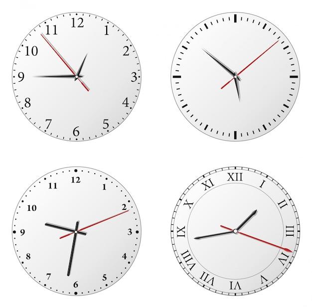 Zeiteinstellung Premium Vektoren