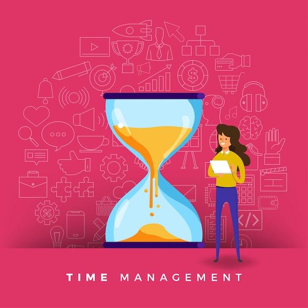 Zeiteinteilung Premium Vektoren