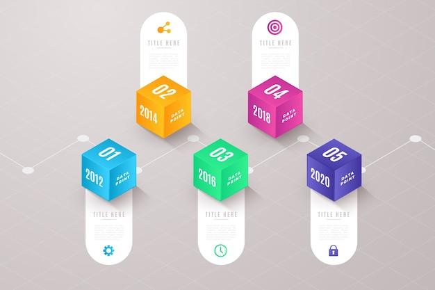 Zeitleiste farbverlauf professionelle infografik Kostenlosen Vektoren