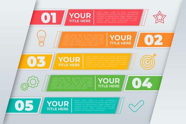 Zeitleiste infografik evolution konzept Kostenlosen Vektoren