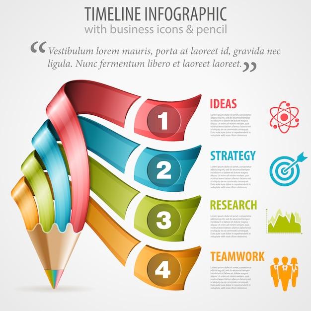 Zeitleiste infografik Premium Vektoren