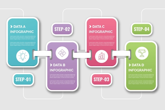 Zeitleiste infografik Kostenlosen Vektoren