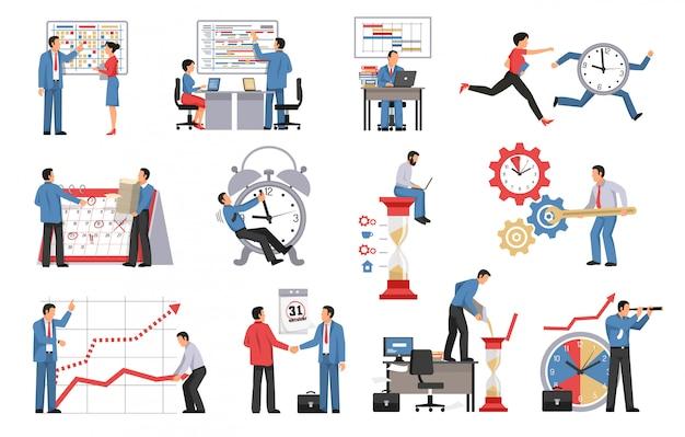 Zeitmanagement isoliert Kostenlosen Vektoren