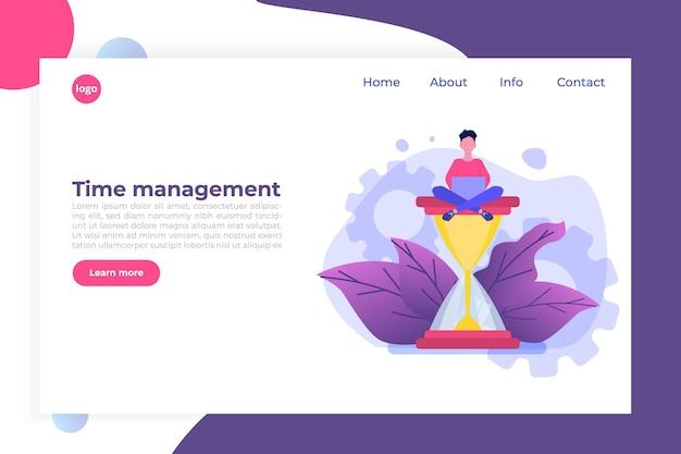 Zeitmanagement-konzept, business scheduling app. Premium Vektoren