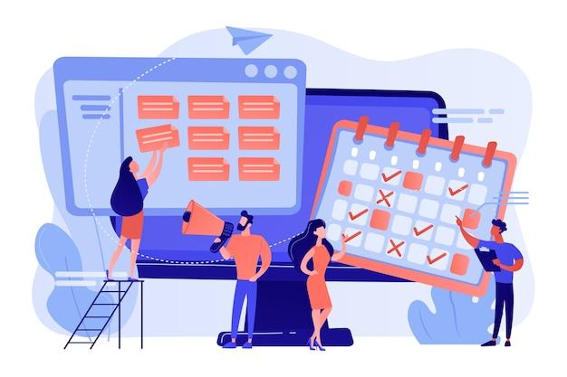 Zeitmanagement, marketing-teamwork Kostenlosen Vektoren