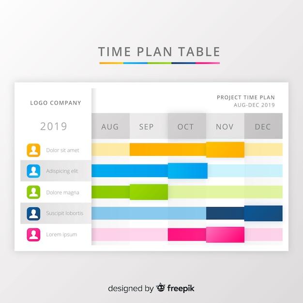 Zeitplan-tabelle Kostenlosen Vektoren